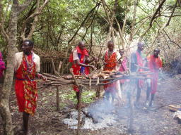 神聖なオルプルで牛を焼く
